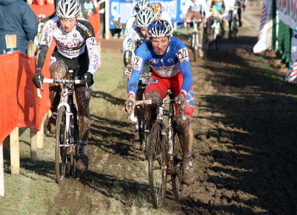 Riders were searching for good lines in the French mud. ? Bart Hazen