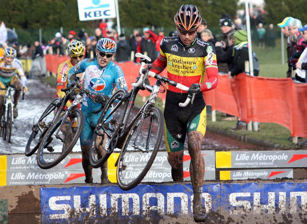 Nys would make the early break and ride onto the podium. ? Bart Hazen