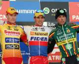 The elite men's podium in Roubaix. ? Bart Hazen