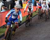 Amy Dombroski took her new Luna kit to 14th in Roubaix. ? Bart Hazen