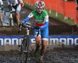 Eva Lechner fighting through the sloppy conditions. ? Bart Hazen