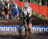 Elisabeth Brandau looks to be enjoying herself in the mud. ? Bart Hazen