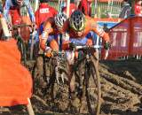Michiel Van der Heijden powers through the mud. ? Bart Hazen