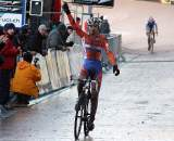 Van der Poel takes the win. ? Bart Hazen