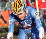 Danny Summerhill sporting his U23 Nationals Champs jersey in Roubaix. ? Bart Hazen