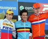 The U23 podium in Roubaix. ? Bart Hazen