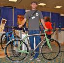 Cory Rosene took a two-week frame building class from Dave Bohm (Bohemian Bikes) and decided not to leave. After an extended apprenticeship with Bohm, Rosene is now striking out on his own. Here he shows off the second Rosene ever made, a gorgeous steel lugged cyclocross frame. ? Dave Lawson
