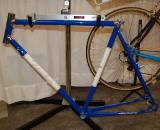 Gardnerville, NV, based Paul Taylor displayed this classic looking steel lugged cyclocross frame ? classic, that is, except for the disc brake mounts and elegant rear dropouts ? Dave Lawson