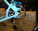 Nice touches on the Caletti include an adjustable disc brake mount and a bottle opener on the rear dropout ? Dave Lawson
