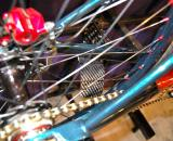 Anderson included a carbon fiber ?card? in the spokes ? and yes, carbon fiber does lead to a significant performance gain (in terms of noise generated) over a traditional paper-based card ? Dave Lawson