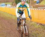 Riders were out in force testing their legs and dialing the muddy course. © Jonas Bruffaerts