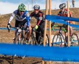 Tearing around the course in teh Womens 17-18 and 15-16 on the 2014 National Cyclocross Championships. © Mike Albright