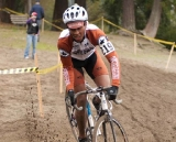 A Counterbalance Bicycles racer slips and slides through the sand © Karen Johanson