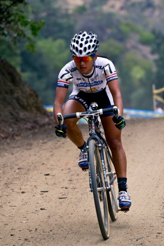 Coryn Rivera cruised to third at Griffith Park. © M. Rock