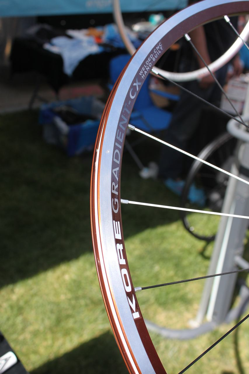The Gradient CX wheels offer a rim profile that offers a 10% taller braking surface and a profile that\'s designed to be tubeless compatible - with a rim strip. ? Cyclocross Magazine