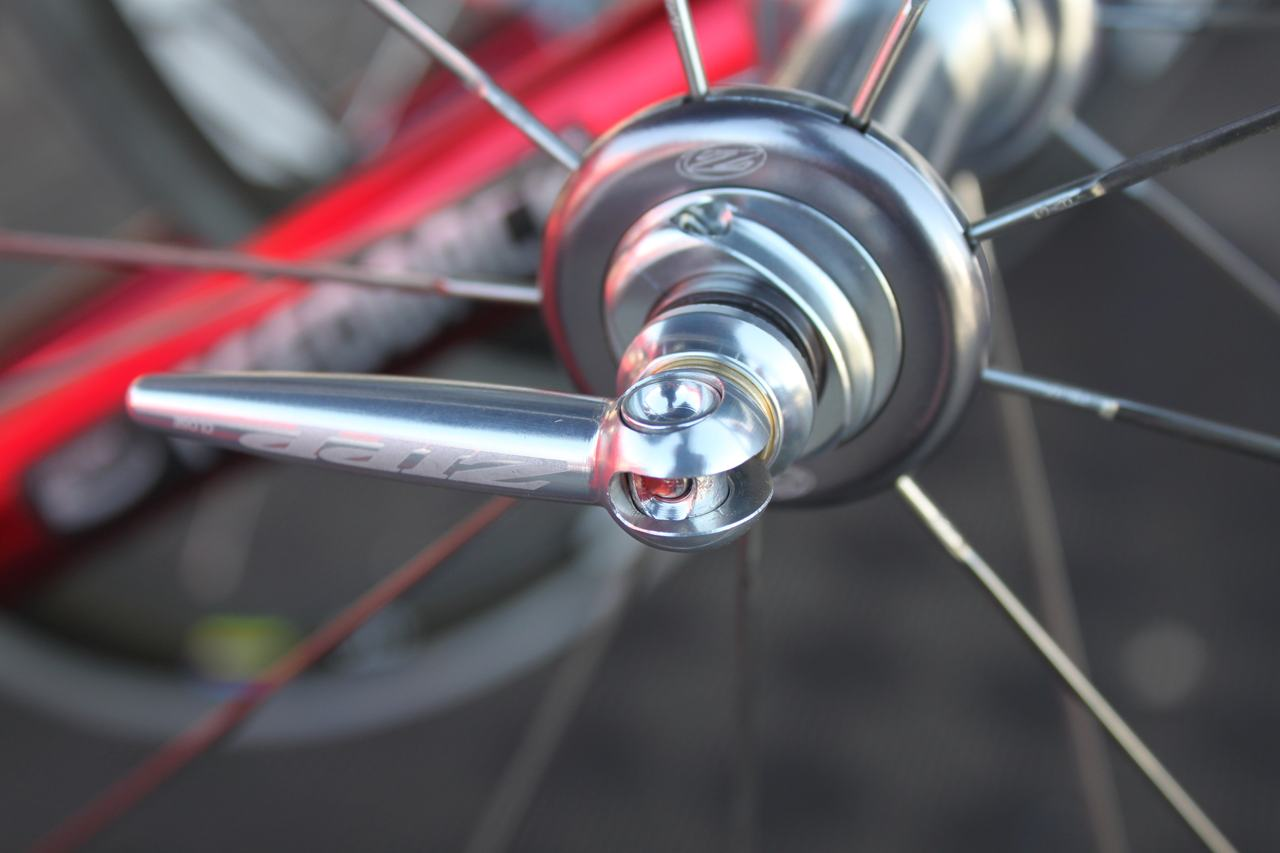 Zipp heard our complaints about their cheap, heavy skewers on their high-end wheels and contracted with KCNC to provide a 65g, sleek skewer set. ? Cyclocross Magazine