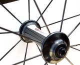 The EC90SL clincher wheelset's R4 hubs are the same ones featured on the tubular wheels and offer ceramic bearings. ? Cyclocross Magazine