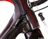 For 2012 Redline used internal cable routing on the Conquest Pro and Team. © Tim Westmore / cxmagazine.com