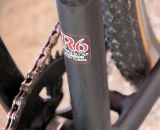 The Redline Conquest singlespeed's frame is from the company's high-end R6 aluminum.  Sea Otter Classic Expo 2011. © Cyclocross Magazine