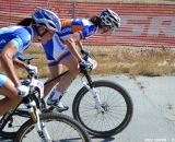 Pendrell and Vos duke it out at Sea Otter short track race 2013. © Cyclocross Magazine
