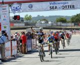 Kabush handily takes the win at the Sea Otter short track race 2013. © Cyclocross Magazine