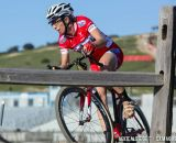 Rachel Lloyd solos towards first place during cyclocross at Sea Otter. © Mike Albright