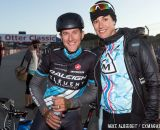 Nicole Duke with Ben Berden post-cyclocross at Sea Otter. © Mike Albright