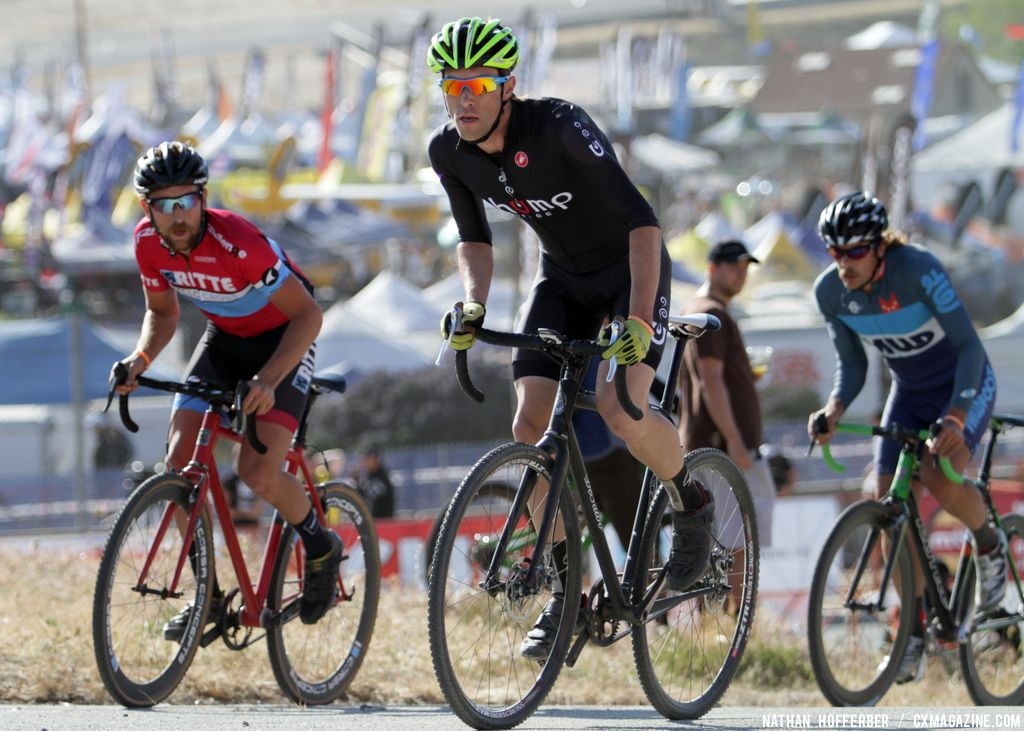 High intensity at the Raleigh cyclocross race at Sea Otter. © Cyclocross Magazine