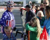 Page was all smiles with the family at the Raleigh cyclocross race at Sea Otter. © Cyclocross Magazine