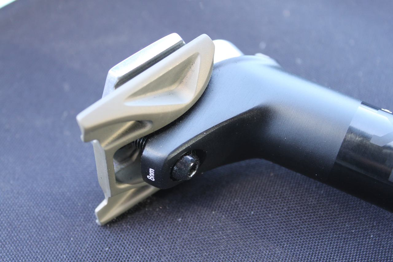 Fizik's Cyrano seatpost offers plenty of fore/aft adjustability ? Cyclocross Magazine