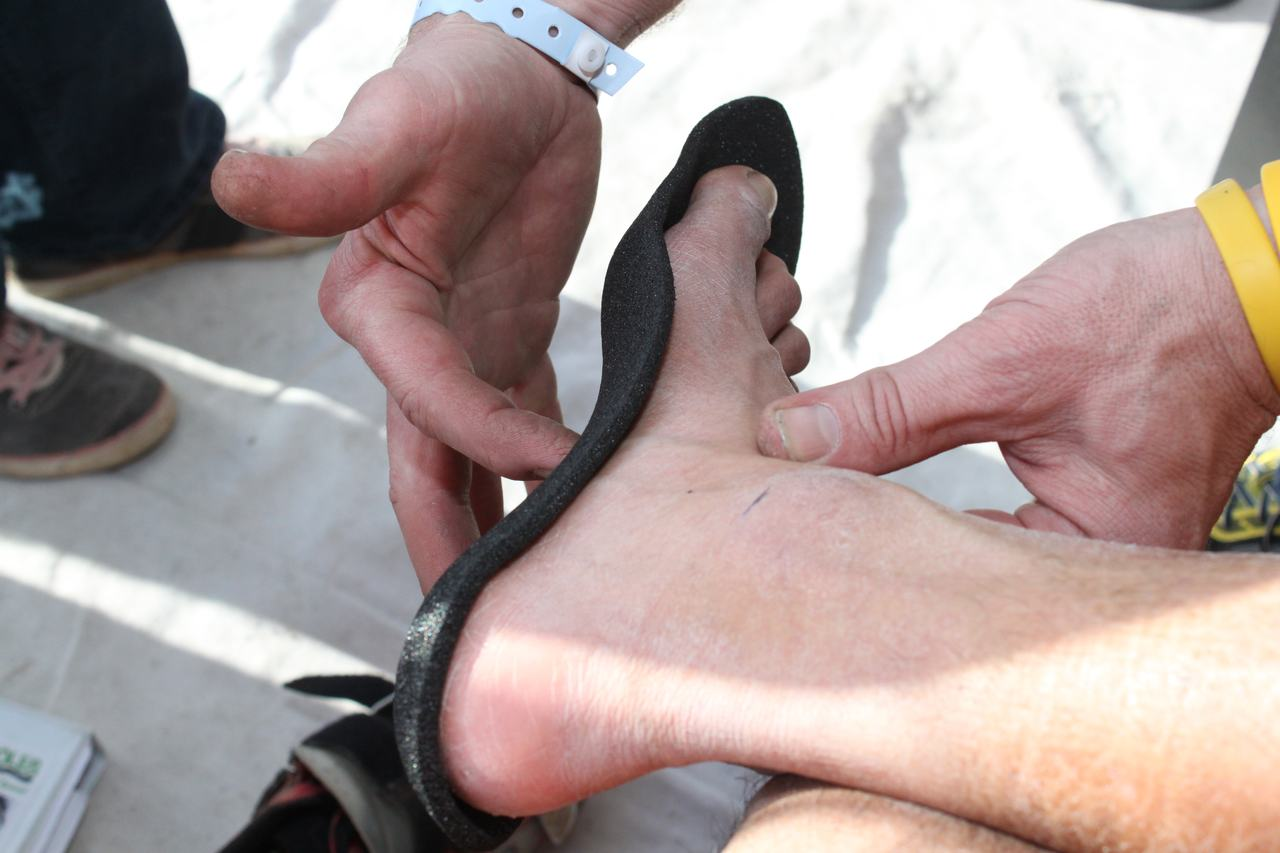Cycle Soles was on hand - or foot - to measure custom insoles ? Cyclocross Magazine