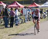 Kristi Berg (Redline) takes a commanding win at Seattle Cyclocross #1. by Kenton Berg