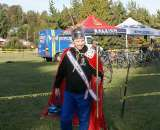 Mr. Cyclocross, Joe Martin, brought out his crown and big stick for the day.  ? Kenton Berg