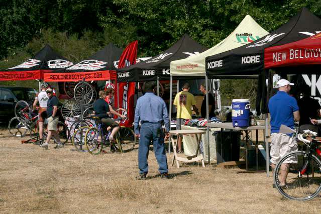 Lee Waldman wished for an expo at least equivalent to that of a local race like this Seattle Cyclocross Expo. ©Janet Hill