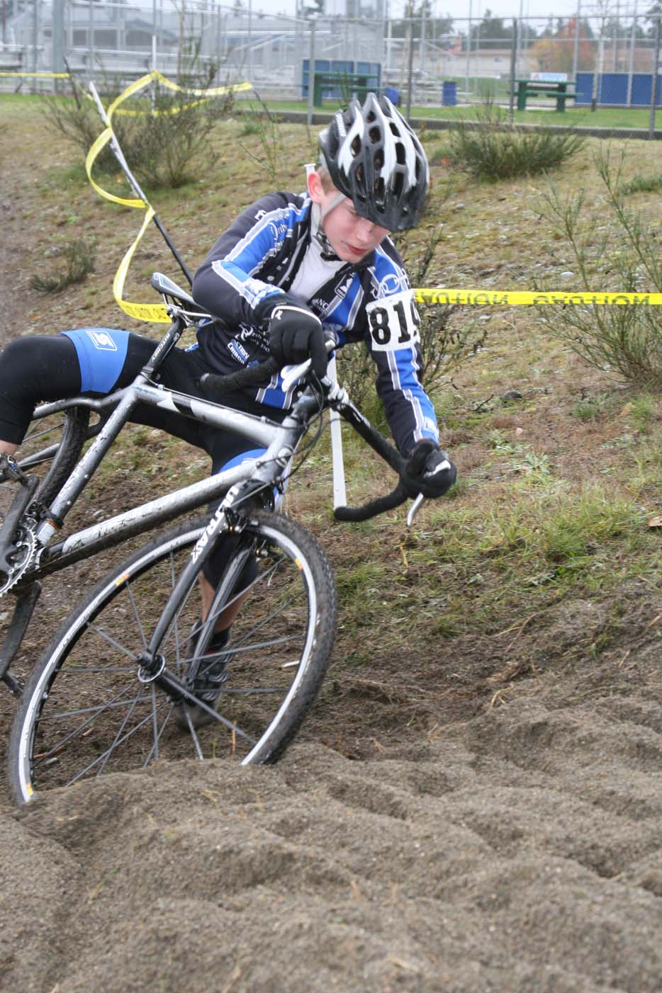 The sand proved challenging for many. Seattle Cyclocross Race #6, Sprinker Park. ? Janet Hill / spotshotphotography.com