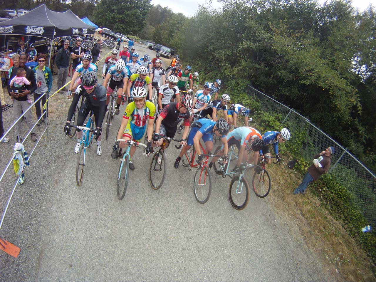 Men's Singlespeed group ready to rumble © Kenton Berg