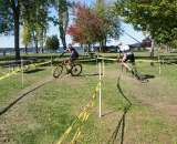 Masters 1/2 riders navigate a 180 deg turn. by Kenton Berg