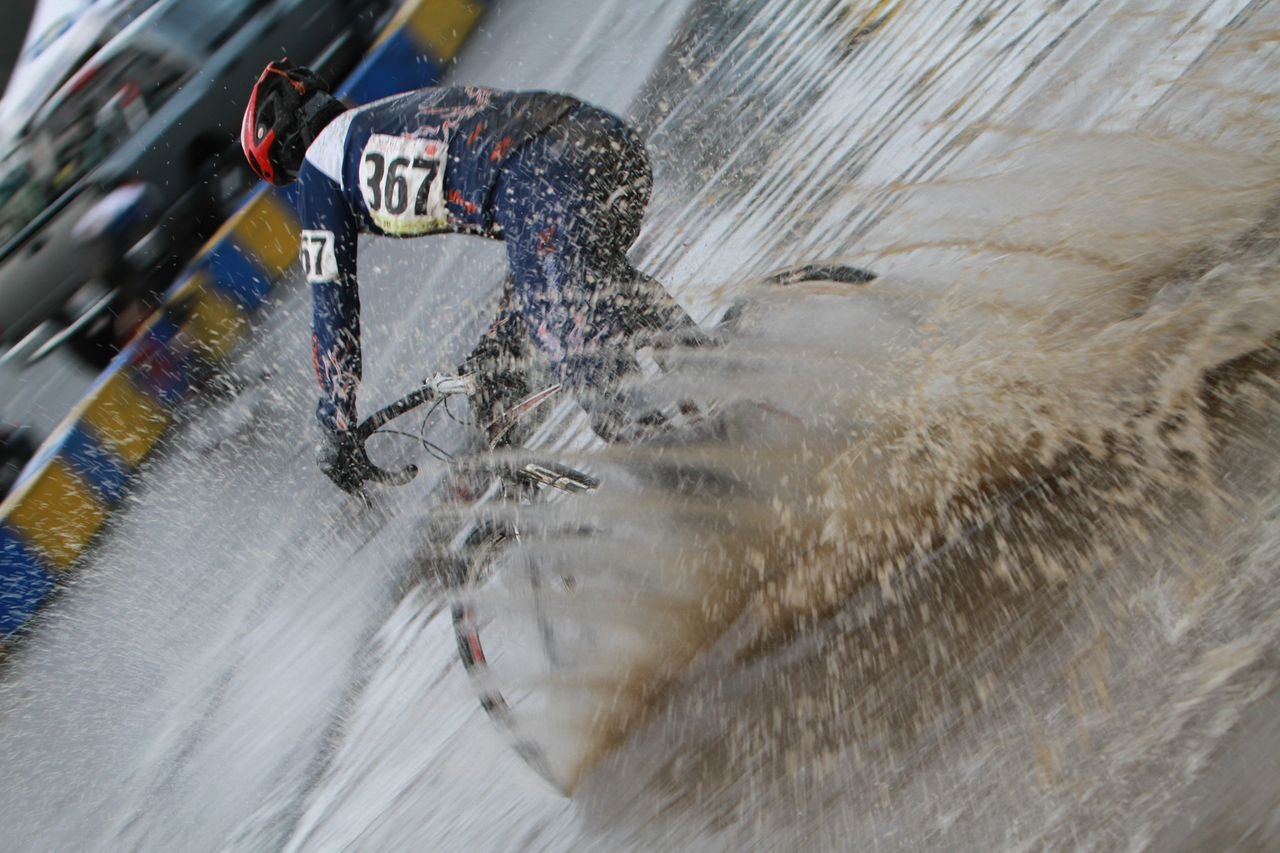 In many places, the water reached up to the shoes of the riders © Janet Hill