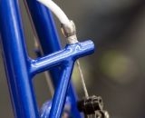 Shamrock Cycles' rear brake hanger has triangulated structural support for a stiffer, more responsive braking. ©Cyclocross Magazine