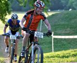 Racing short track at Eva Bandman Park. It's not cyclocross, but it's close! © Marcia Seiler