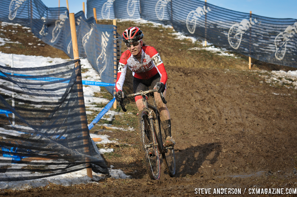 Mo Bruno-Roy in control in the women's singlespeed race in Boulder. © Steve Anderson