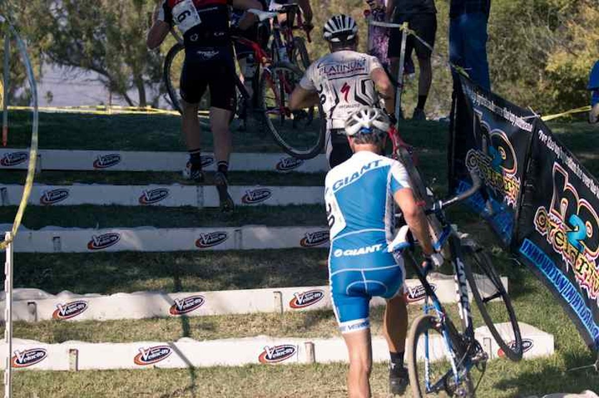Riders Tackle the H20 Overdrive -Velocity Stairs © Kelly Grief