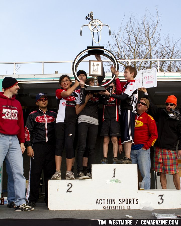 The Socal winners celebrate. Socal vs. Norcal Cyclocross Championships. © Tim Westmore