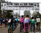 The kids race showed Bakersfield cyclocross has a bright future. Socal vs. Norcal Cyclocross Championships. © Tim Westmore