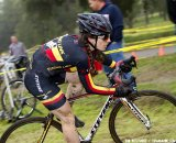 Thurston on her way to her first cyclocross win at the Socal vs. Norcal Cyclocross Championships. © Tim Westmore
