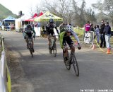 The chase group in the Elite men's race. Socal vs. Norcal Cyclocross Championships. © Tim Westmore