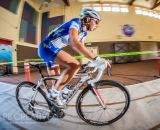Women's A race winner Hannah Rae Finchamp (Luna Chix) navigates the barn. © Philip Beckman