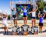 The Women's A podium at SoCalCross round four. © Philip Beckman