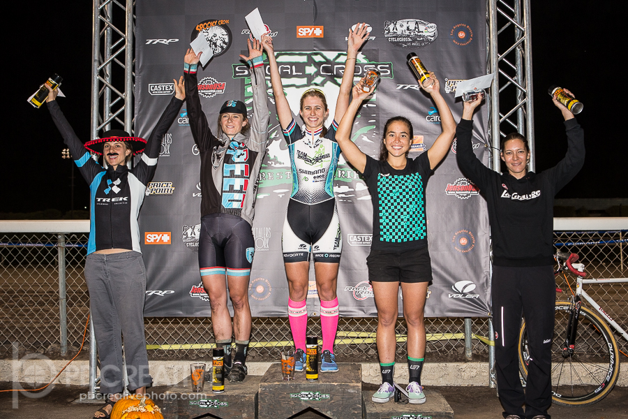 The Spooky Cross Women's A podium. © Philip Backman