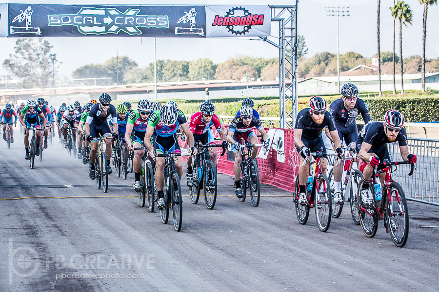 The horror: Kyle Gritters leads brother Brandon at the start of the Krosstoberfest Men's A massacre. © Philip Beckman
